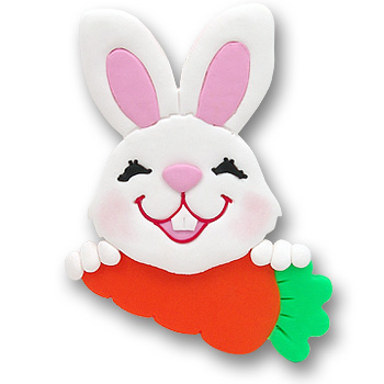 Bunny w/Carrot Personalized Ornament
