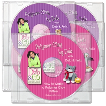Set of 5 DVDs<br>Polymer Clay Tutorials