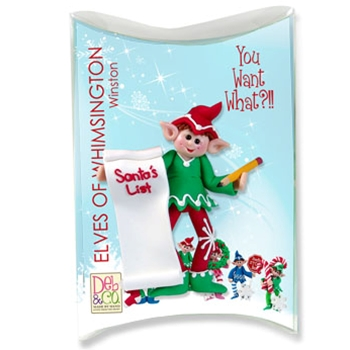 Z-NEW Winston Personalized Elf Ornament in Custom Gift Box