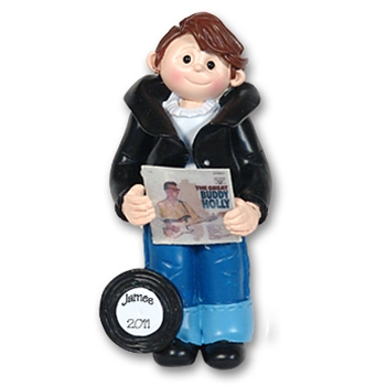 RESIN<br>Giggle Gang 50's Boy<br>Personalized Ornament