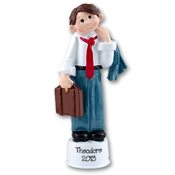 RESIN<br>Male Attorney<br>Business Man Ornament