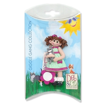 Glggle Gang Girl w/Kitten Personalized Ornament in Custom Gift Box