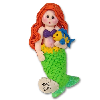 RESIN<br>Giiggle Gang Mermaid<br>Personalized Ornament
