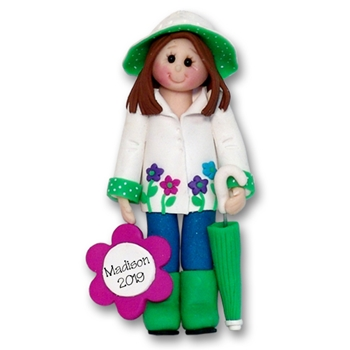 Rainy Day Girl Personalized Christmas Ornament  - Limited Edition