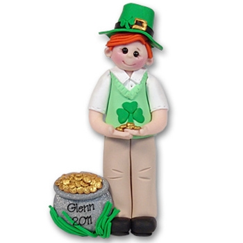 RESIN<br>St. Patty's Day<br>Personalized Ornament-Male