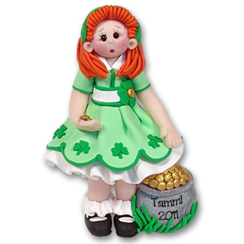 RESIN<br>St. Patty's Day<br>Personalized Ornament-Female