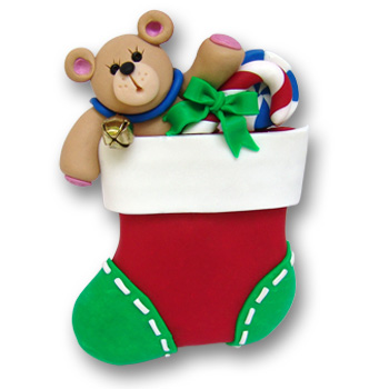 Stocking w/Bear & Gifts