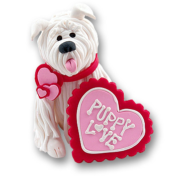 Valentine Puppy Love Dog Figurine
