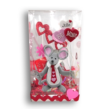 Merry Mouse Sweetheart Boy Valentine Figurine in Gift Box