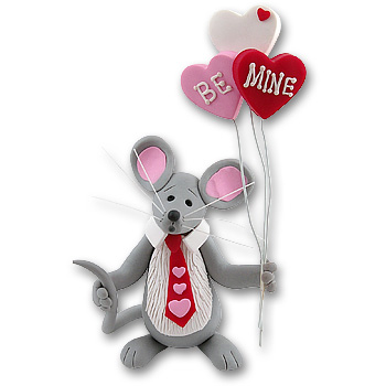 Merry Mouse Sweetheart<br>Boy Figurine