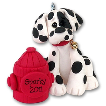 """Sparky"" Dalmatian Personalized Dog Ornament - Limited Edition"