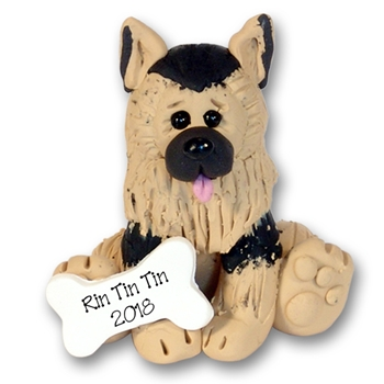 """Rin-Tin-Tin"" The German Shepherd Puppy Pal Ornament Limited Edition"