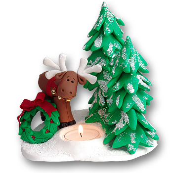 Moose in Winter<br>Tea Light<br>Candle